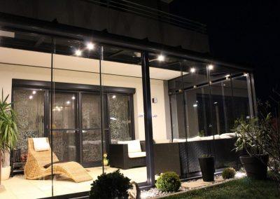 Terrassenüberglasung mit Rahmenfreien