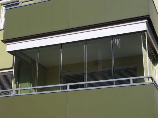Überdachten Terrasse Ganzglasschiebeelemente