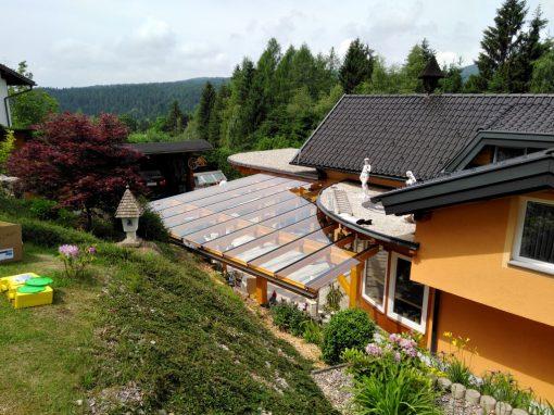 Terrassen-Glasüberdachung
