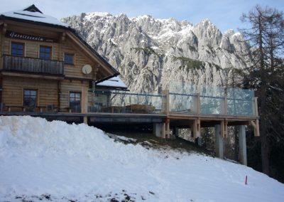Terrassen-Windschutzverglasung